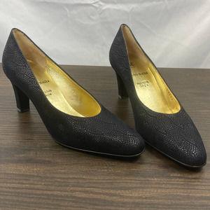 Bruno Magli patterned closed toe heels
